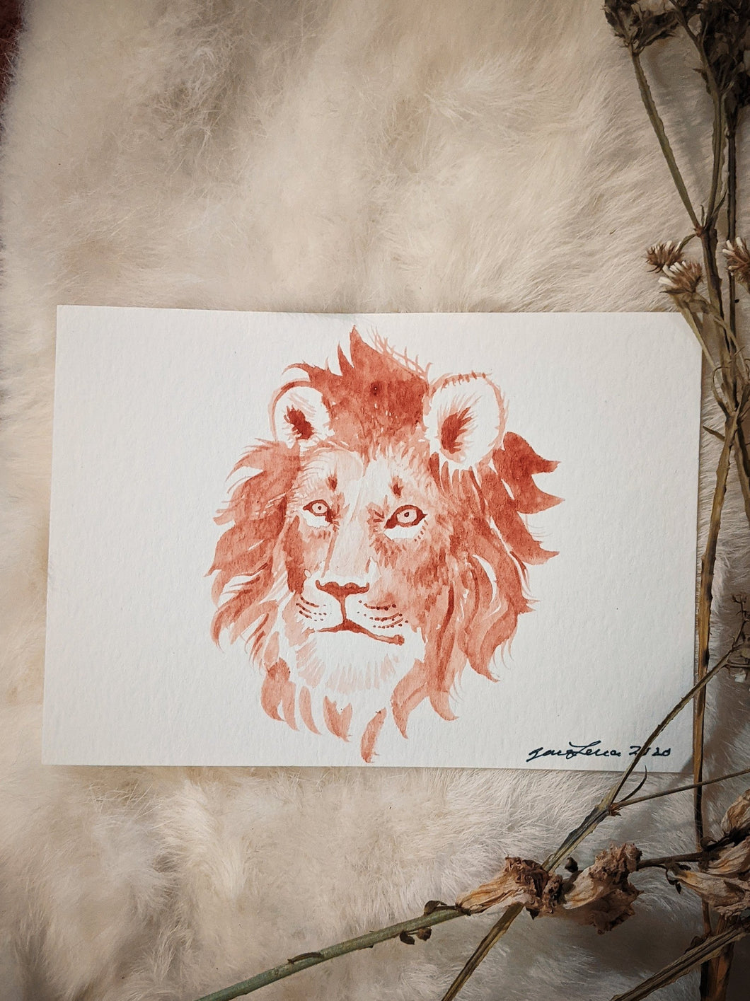 Moon Painting~ Lion
