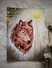 Load image into Gallery viewer, Moon Painting~ Blood Wolf