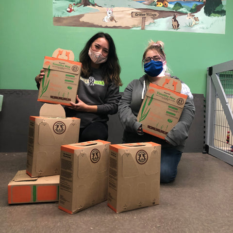 Nevada SPCA receiving donations from Offbeat Club