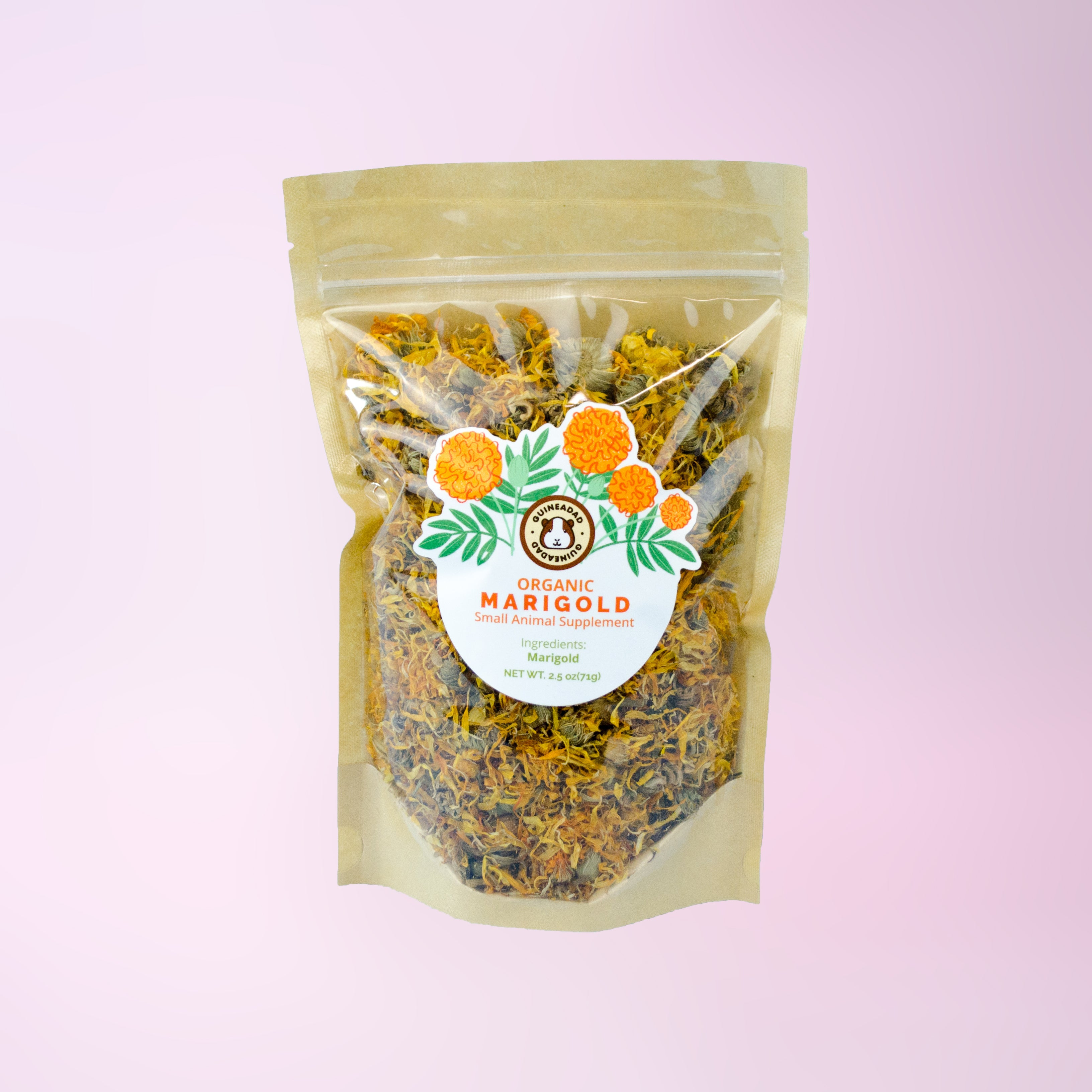Marigold herbal treats for small animals
