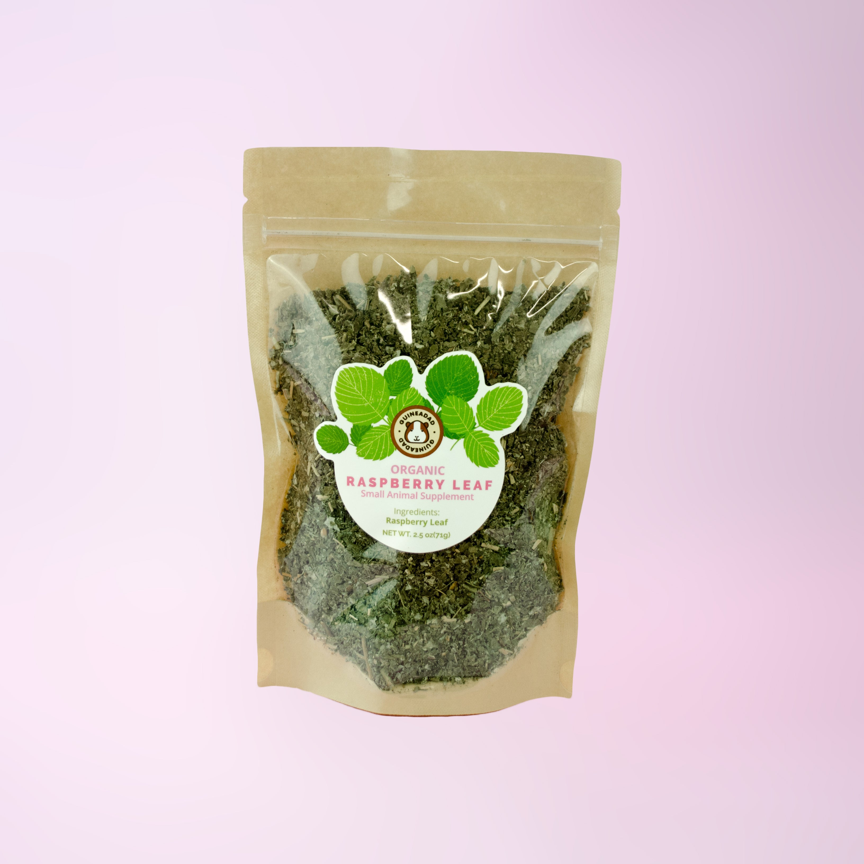 raspberry leaf herbal treat for small animals