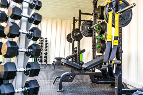 Just some of the equipment in MyContainerGym