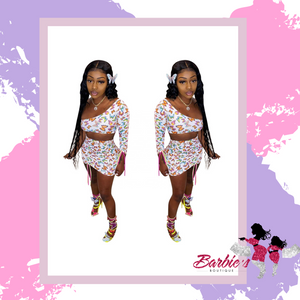 Barbie Butterfly Two Piece Skirt Set