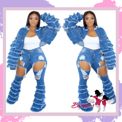 Barbie Two Piece Jeans Denim Jacket and Pants