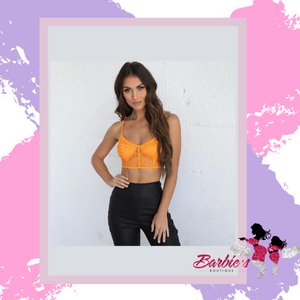 Barbie Sexy Sheer Lace Crop Tops