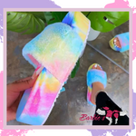 Barbie Flange Fluffy Slippers