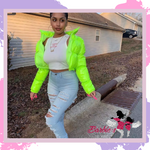 Barbie Lime Green Bubble Jacket