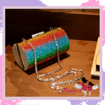 Rainbow Purse Clutch Bag Personalised Diamond
