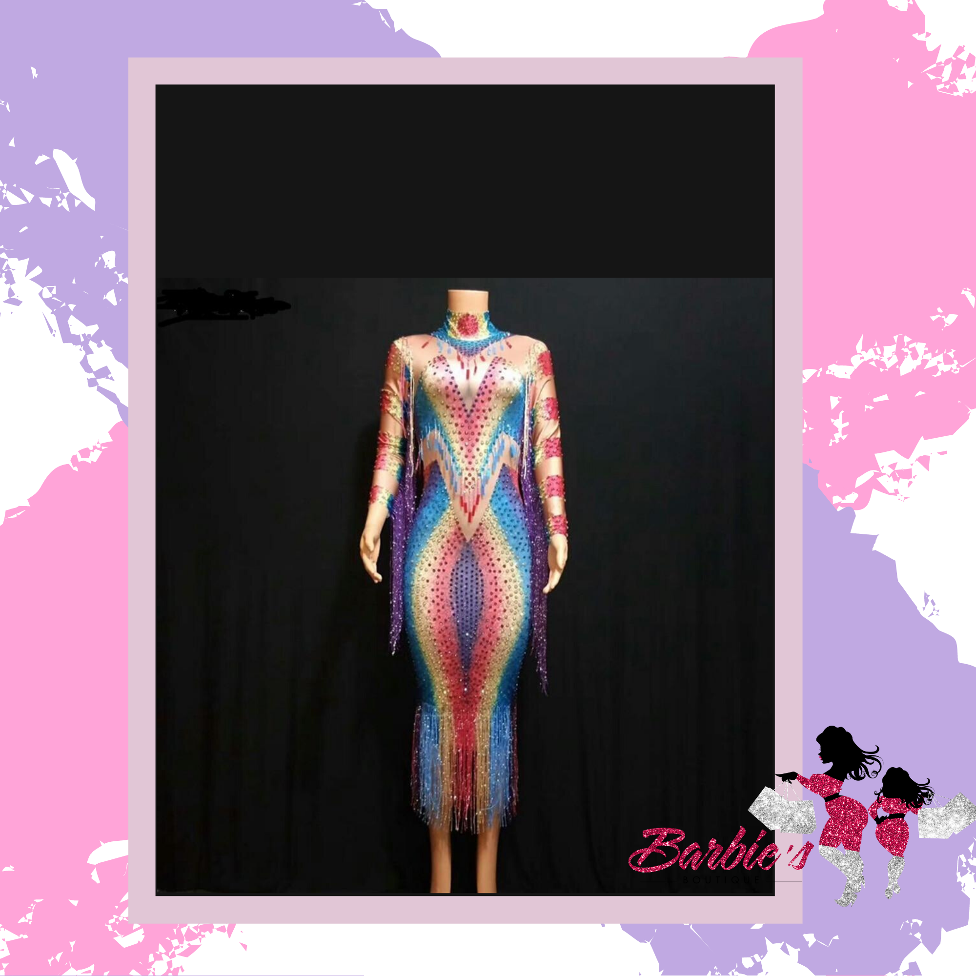 Barbie Colorful Rhinestones Dress
