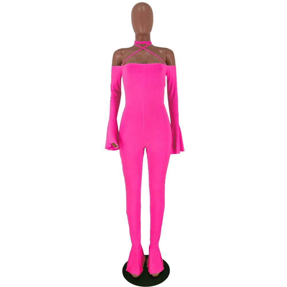 Barbie Long Sleeve Skinny Jumpsuit