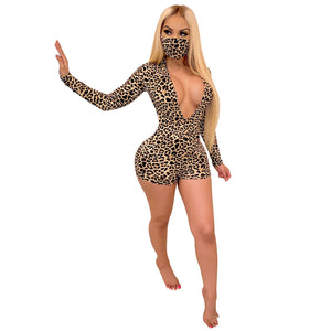 Barbie V-Neck Sexy Jumpsuit