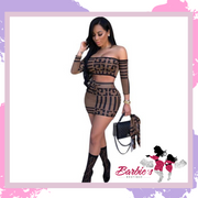 Barbie Skirts Sexy Two Piece Skirt Set