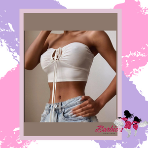 Barbie Fashion hollow out halter knitted crop top