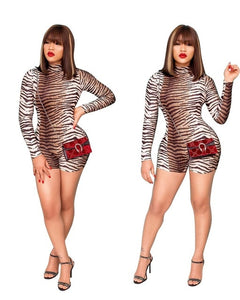 Barbie Tiger Stripe Print Women Sexy