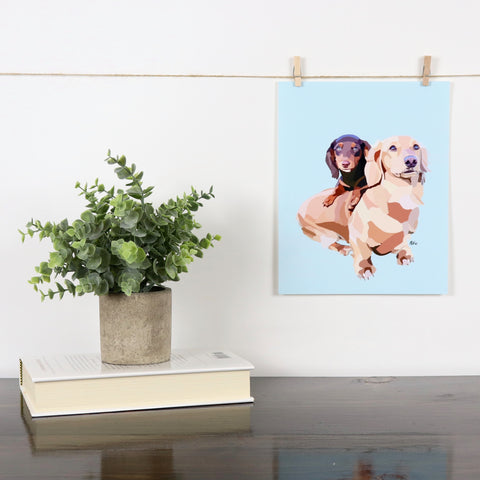 Dachshunds Glossy Print - Miss Manda Pet Portraits