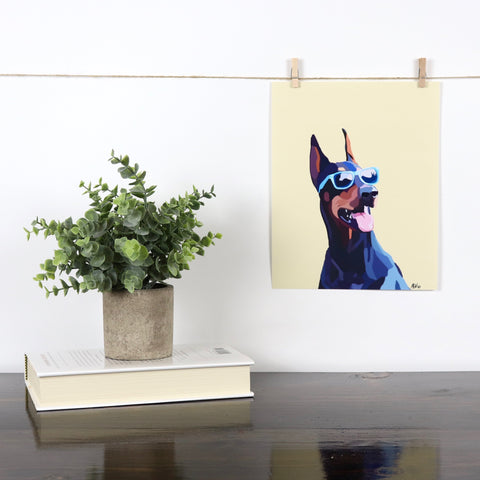 Doberman (Sunglasses) Glossy Print - Miss Manda Pet Portraits