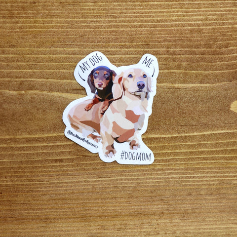 #DogMom stickers (Set of 4) - Miss Manda Pet Portraits