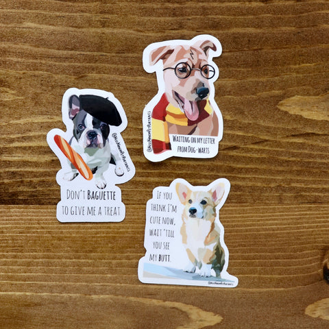 Doggy Sticker Pack 1 - Miss Manda Pet Portraits