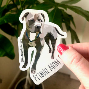 PItbull Mom Sticker (Set of 4)