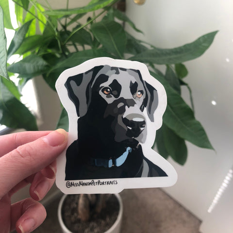 Black Lab Sticker (Set of 4)