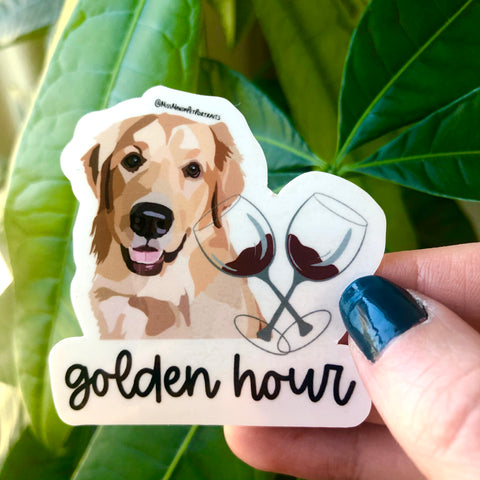 Golden Hour Golden Retriever Sticker (Set of 4)