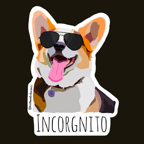 Corgi Incorgnito Sticker (Set of 4)