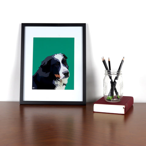 Bernese Mountain Dog Glossy Print - Miss Manda Pet Portraits