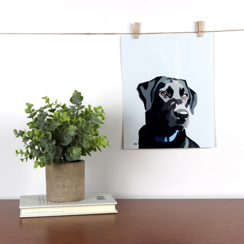 Black Lab Glossy Print - Miss Manda Pet Portraits