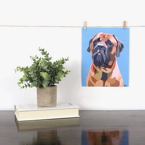 English Mastiff Glossy Print - Miss Manda Pet Portraits