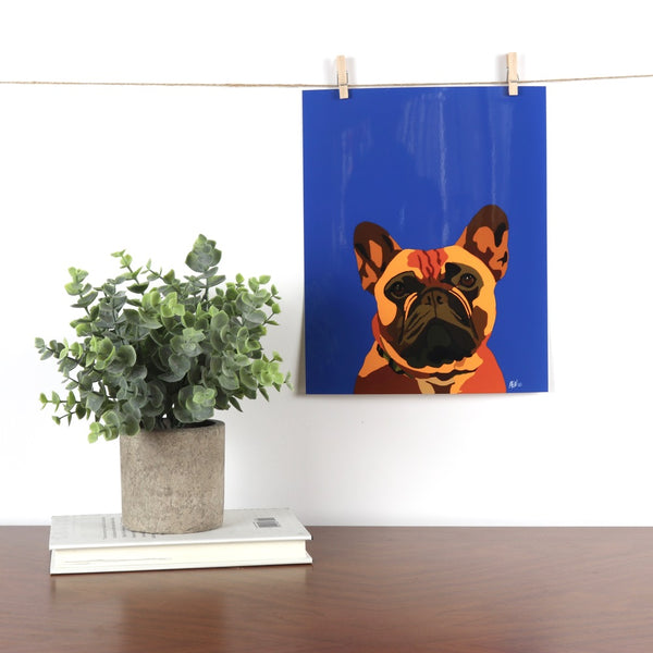 French Bulldog (Fawn) Glossy Print - Miss Manda Pet Portraits