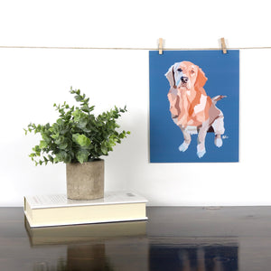 Golden Retriever Glossy Print - Miss Manda Pet Portraits