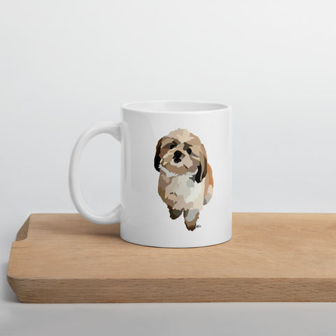 Shih Tzu Mug – White - Miss Manda Pet Portraits