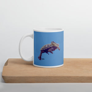 Eastern Longneck Turtle Mug – Blue - Miss Manda Pet Portraits