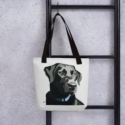 Black Lab Tote bag – Large Print - Miss Manda Pet Portraits