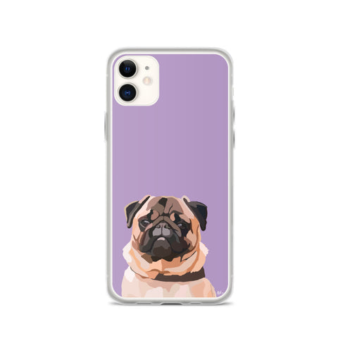 Pug iPhone Case – Standard - Miss Manda Pet Portraits