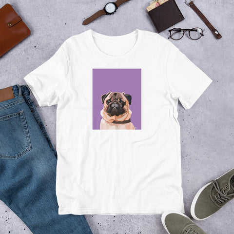 Pug T-Shirt – Portrait - Miss Manda Pet Portraits