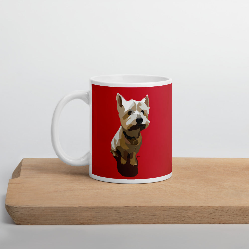 West Highland Terrier Mug – Red - Miss Manda Pet Portraits