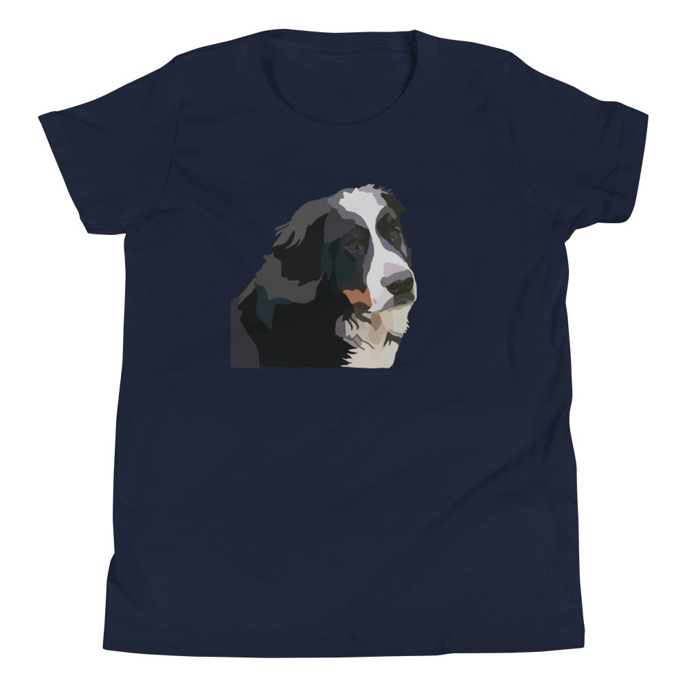 Bernese Mountain Dog Youth T-Shirt - Miss Manda Pet Portraits