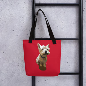 West Highland Terrier Tote bag – Large Print - Miss Manda Pet Portraits