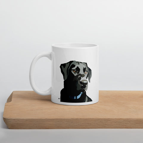 Black Lab Mug – White - Miss Manda Pet Portraits