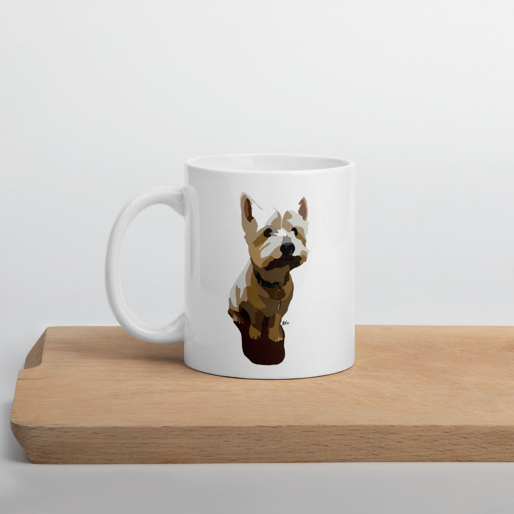 West Highland Terrier Mug – White - Miss Manda Pet Portraits