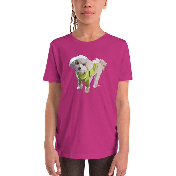 Poodle Mix Youth T-Shirt - Miss Manda Pet Portraits