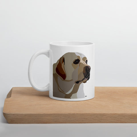 Yellow Lab Mug – White - Miss Manda Pet Portraits