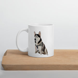 Siberian Huskey Mug – White - Miss Manda Pet Portraits