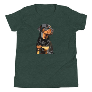Rottweiler Youth T-Shirt - Miss Manda Pet Portraits