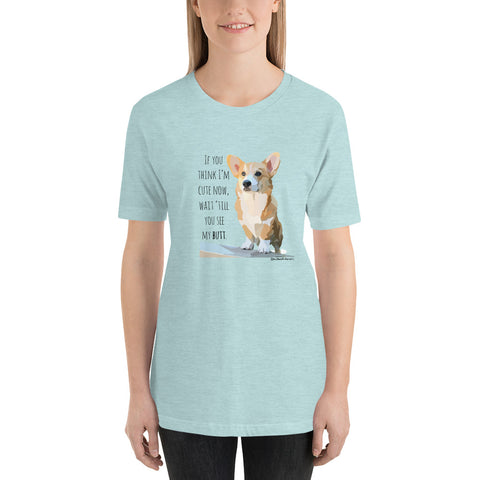 Corgi Butt T-Shirt (front and back)