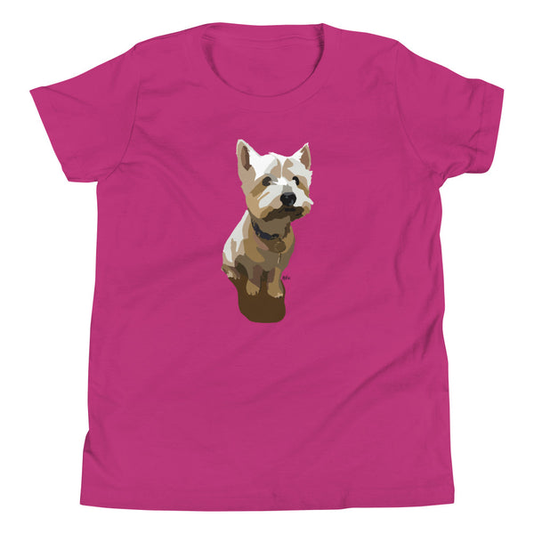 West Highland Terrier Youth T-Shirt - Miss Manda Pet Portraits