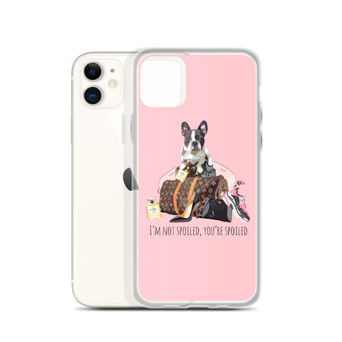 Spoiled French Bulldog Pink iPhone Case