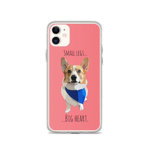 Corgi Small Legs Big Heart iPhone Case