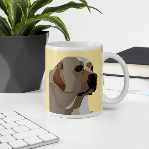 Yellow Lab Mug – Yellow - Miss Manda Pet Portraits